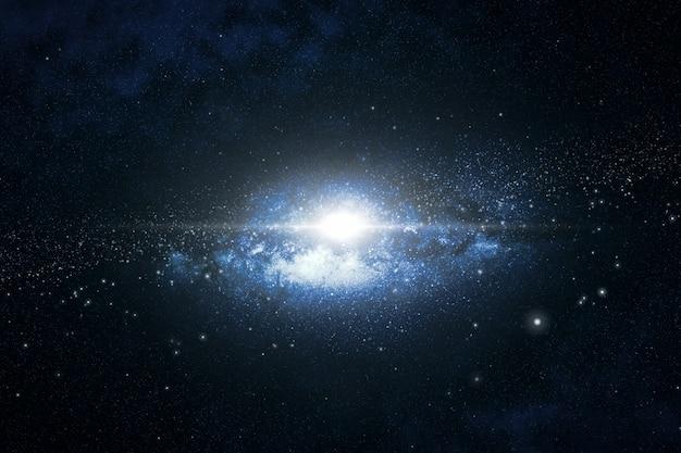 星と暗い深宇宙星雲