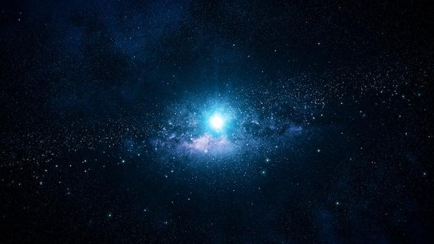 暗い深宇宙の星雲