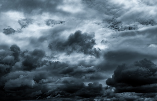 Dark dramatic sky and clouds.