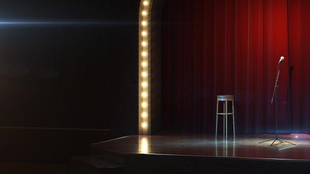 Dark empty stage d render
