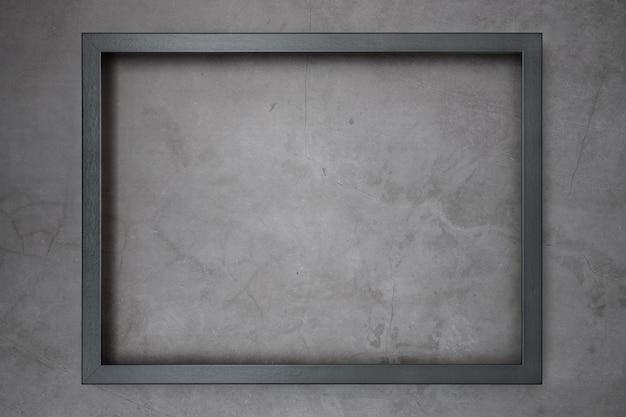 Dark frame fon a gray textured background.