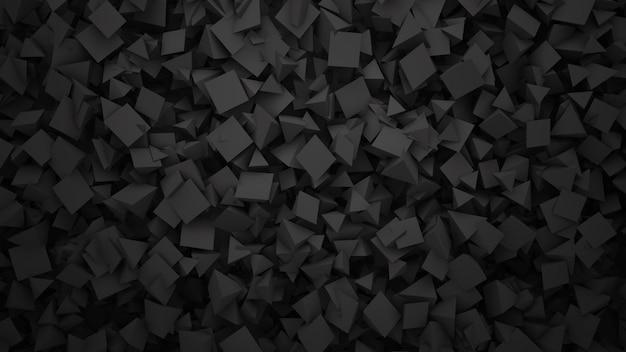 暗い幾何学的形状、抽象的な背景。ビジネスや企業のテンプレート、3dイラストのエレガントで豪華なスタイル