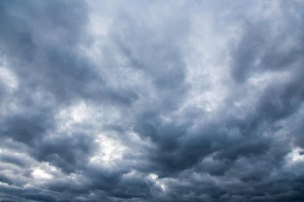 Dark gloomy sky