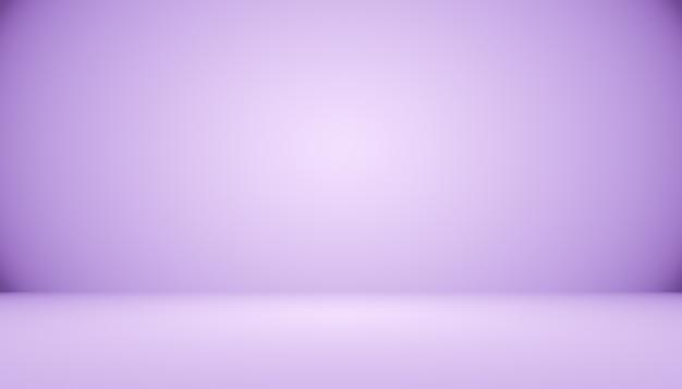 Предпосылка комнаты студии темного градиента фиолетовая для продукта.