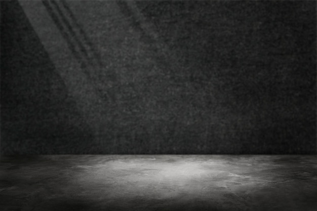 스포트라이트 제품 배경으로 어두운 회색 시멘트 벽