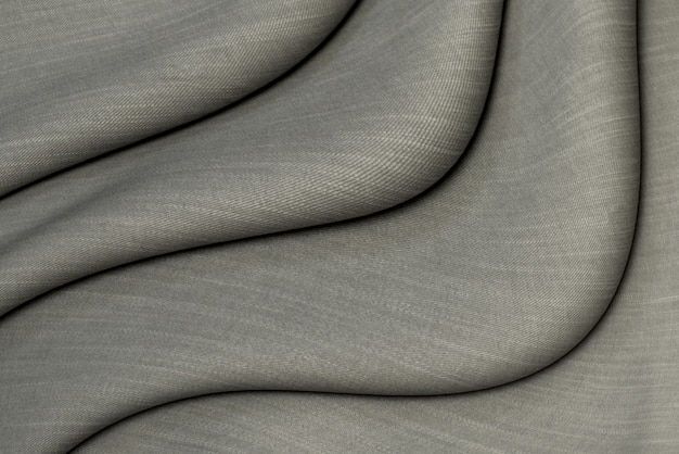 Dark gray cotton fabric background