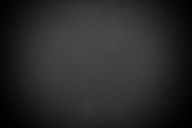 Dark gray fabric texture with  black vignetting