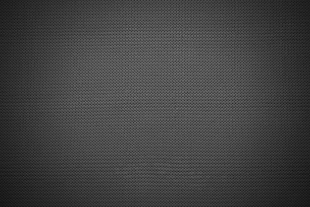 Dark gray fabric texture with vignetting