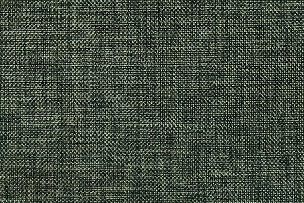 Dark green background of dense woven bagging fabric