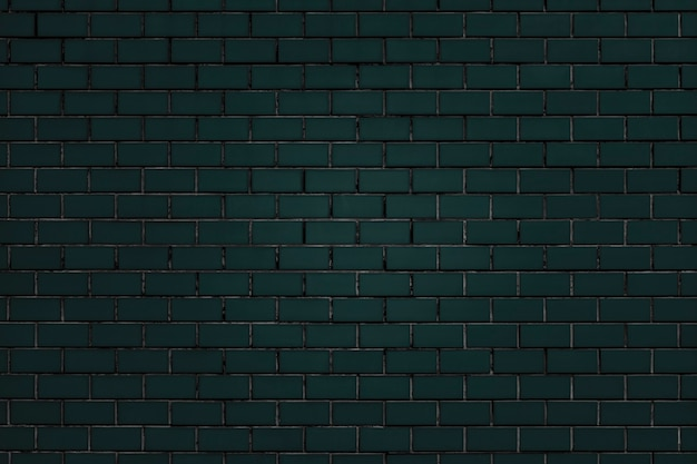 Dark green brick wall textured