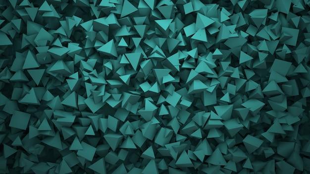 濃い緑色の幾何学的形状、抽象的な背景。ビジネスや企業のテンプレート、3dイラストのエレガントで豪華なスタイル