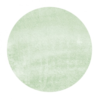 Dark green hand drawn watercolor circular frame background texture with stains