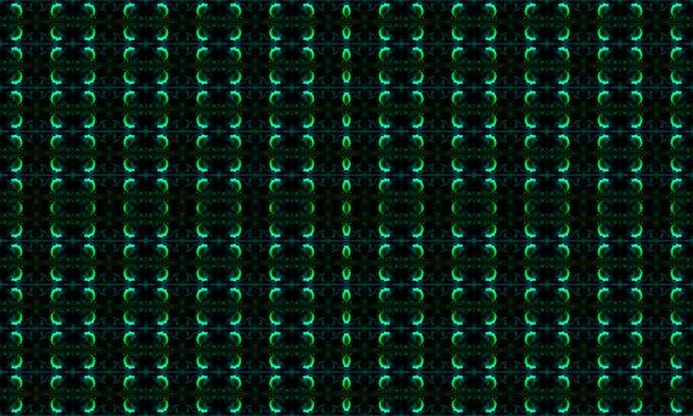 이진 기호가 있는 진한 녹색 원활한 패턴입니다. 추상적인 기술 배경입니다. 매트릭스 스타일의 떨어지는 모양.