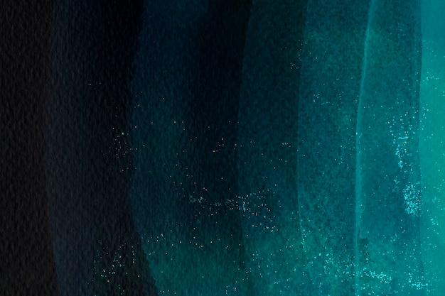濃い緑色の水彩ブラシストローク