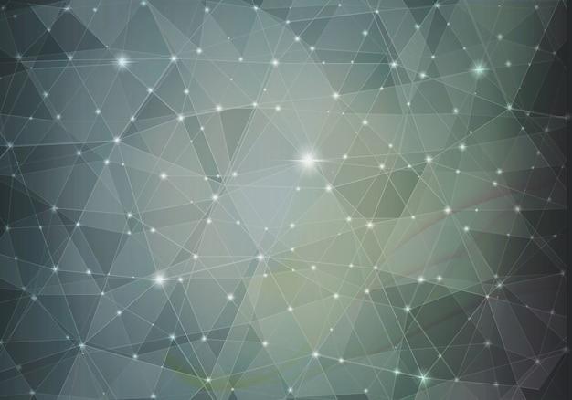 Темно-серый абстрактный многоугольник
