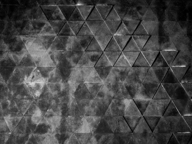 Dark grunge geometric wall background