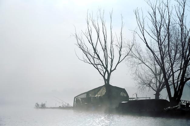 Dark island of fishermen