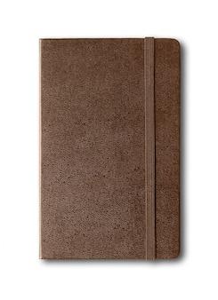 分離されたダークレザー閉じたノートブック