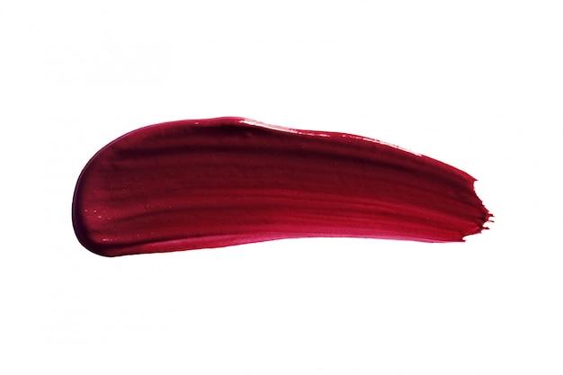Dark lipstick swatch smear stroke