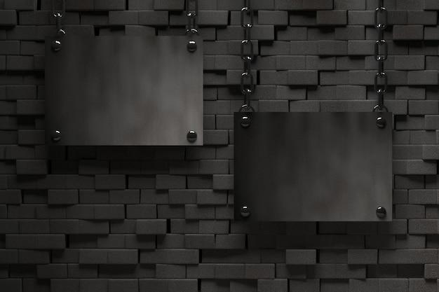 Dark metal plate background