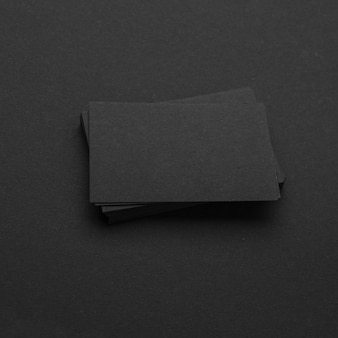 Dark monochrome stationery business visiting cards