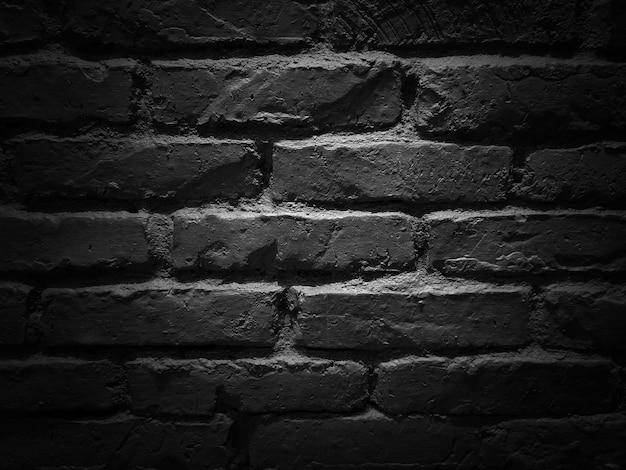 Темная монотонная кирпичная бетонная стена