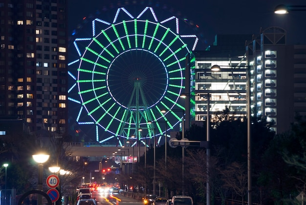 現代東京の暗い夜