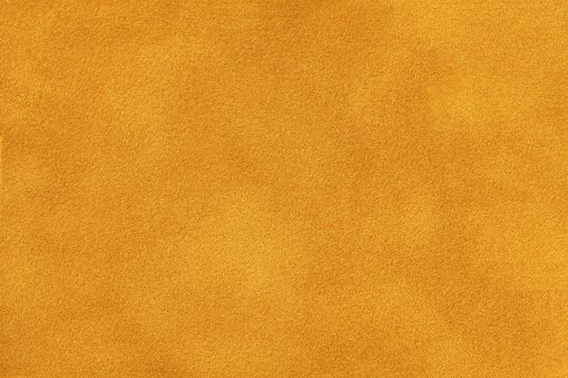 Dark orange matte suede fabric