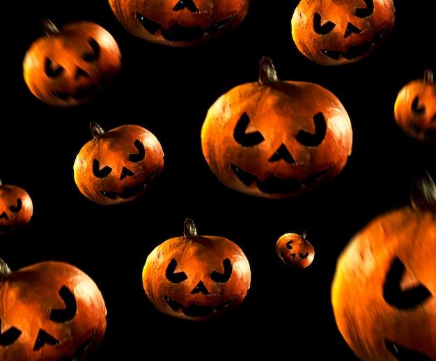 Dark orange pumpkins pattern
