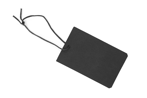Dark paper  tag or label isolated