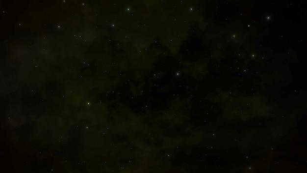 銀河系の暗い粒子と星、抽象的な背景。コスモスのためのエレガントで豪華なスタイルの3dイラスト