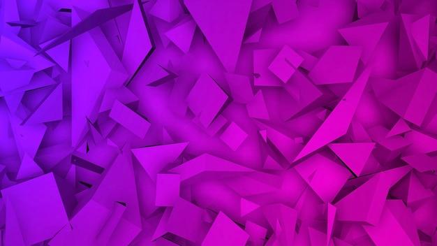 어두운 보라색 기하학적 삼각형 패턴, 추상적인 배경입니다. 비즈니스 및 기업 템플릿, 3d 일러스트레이션을 위한 우아하고 고급스러운 스타일