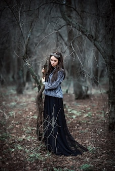 The dark queen in the fairy forest