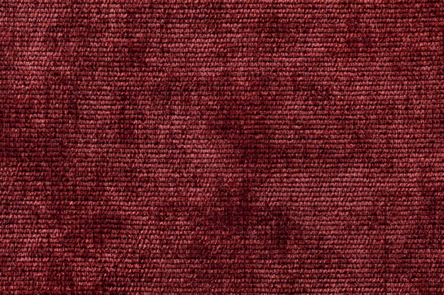 Dark red background from soft textile material