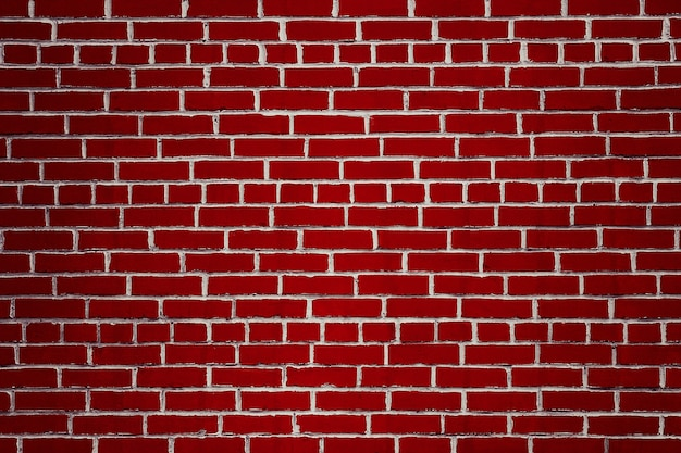 濃い赤レンガの壁