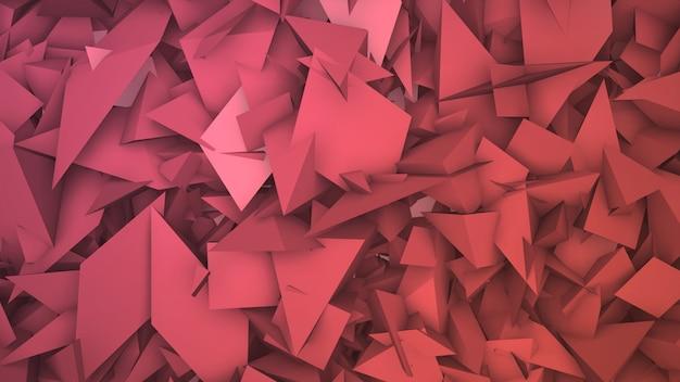 濃い赤の幾何学的な三角形のパターン、抽象的な背景。ビジネスや企業のテンプレート、3dイラストのエレガントで豪華なスタイル