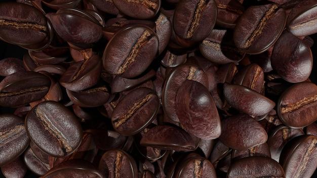 어두운 볶은 커피 콩 배경