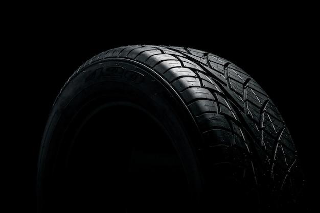 Dark rubber tire