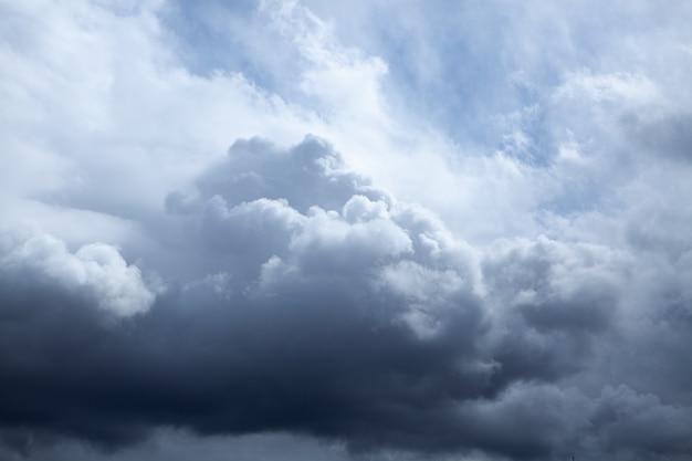 Темное небо и резкое черное облако перед дождем