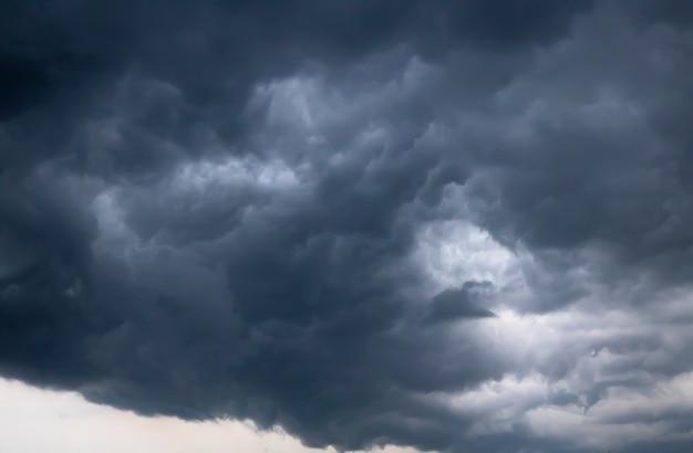 Dark sky before a thunderstorm