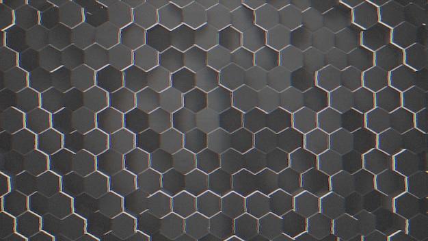 Темный небольшой черный шестигранный фон сетки, абстрактный фон. элегантный и роскошный стиль 3d иллюстрации для бизнеса и корпоративного шаблона