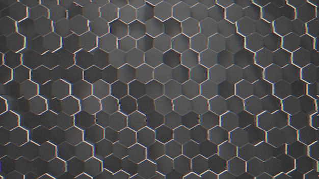 Dark small black hex grid background, abstract background. elegant and luxury style 3d illustration for business and corporate template