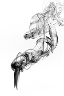 白で隔離される暗い煙
