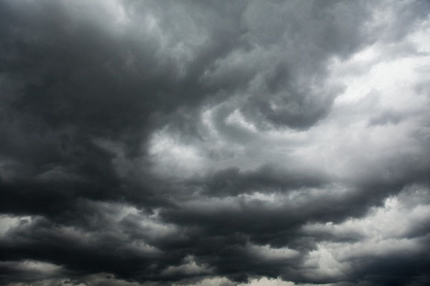 Dark storm clouds in the sky