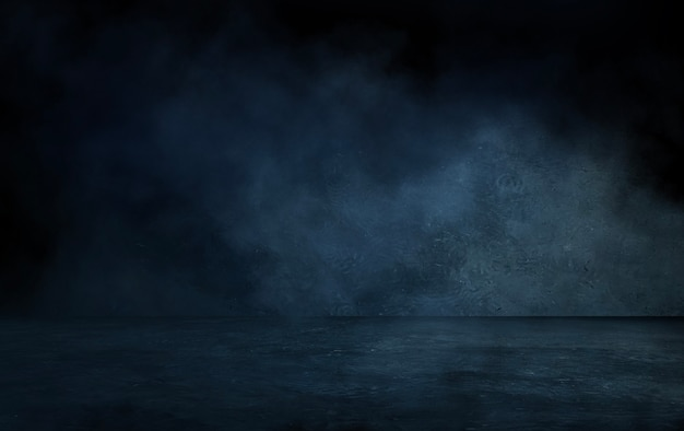 暗い通り、濡れたアスファルト、光線の反射