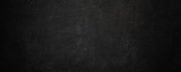 Dark texture chalk board and grunge black board banner wall