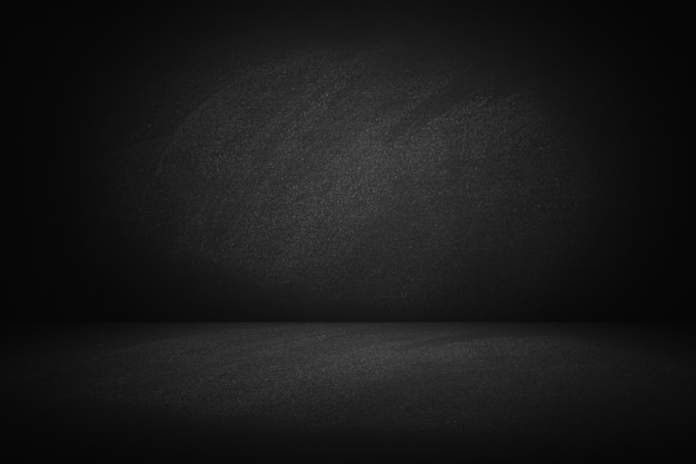 Dark texture chalk board room and studio wall background