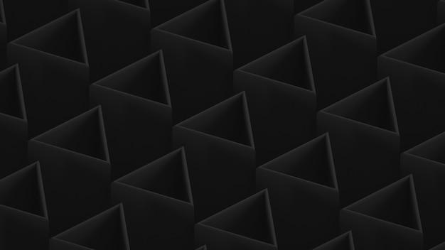 Dark triangular hollow rods. dark low contrast background