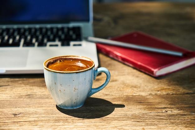 Dark turkish coffee on the table