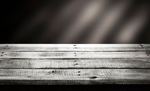 Dark wood table, wooden perspective background